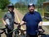 Alex & Jessie, Ky enjoy a beautiful Spring day on the Trail